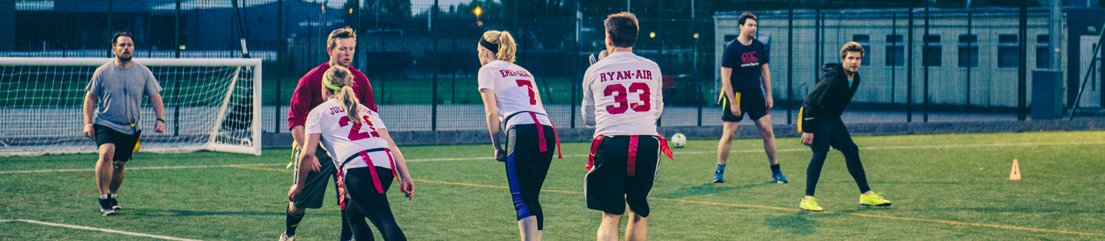 american flag football mixed action
