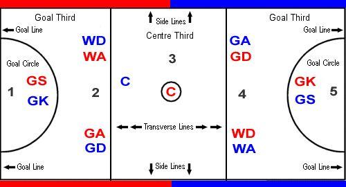 Netball Court Positions