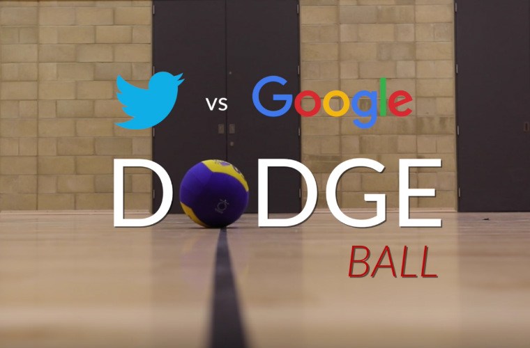 Watch Twitter vs Google in a GO Mammoth dodgeball game! | GO